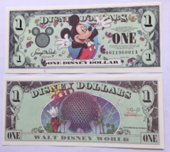 Disney Dollar 2000 Mickey $1 Bill (Disney World) New No Longer Distributed - $24.94