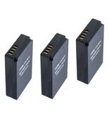 3X LP-E12 Batteries for Canon EOS-M, EOS M2, EOS Rebel SL1, EOS 100D, EO... - $35.95
