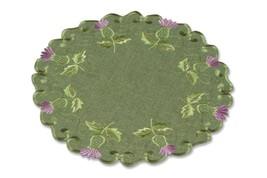 Lomond Verde Thistle Bordado Redondo Servilleta 15.2cm (SET DE 6) - $34.43