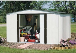 10 X 8 Outdoor Garden Garage lawn Backyard Storage Shed Steel Building G... - $784.25