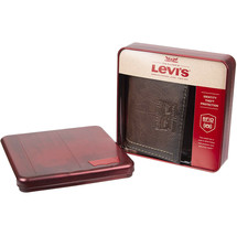 Levi's Trifold RFID Embossed Two Horses Logo Brown Credit Card Wallet for Men image 1