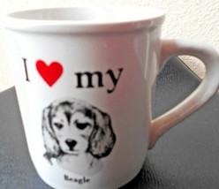 "I love My Beagle Coffee Cup Mug 3.5"" tall x 3.25"" Diam - $12.70"