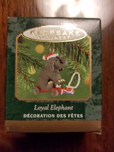Hallmark Mini Ornament Loyal Elephant 2000 Christmas Die Cast NIB - $6.79