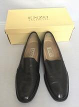 Enzo Angiolini Lafayette Black Soft Calf Leather Loafer Shoes Slip On Fl... - $79.99