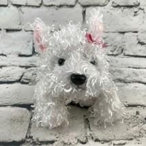 Webkinz Ganz Girl Yorkie Terrier Plush White Hair Pink Bow Stuffed Puppy... - $7.91