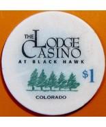 $1 Casino Chip. The Lodge, Black Hawk, CO. V75. - $4.29