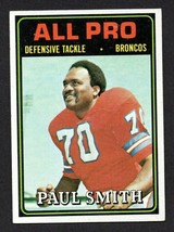 1974 Topps #135 Paul Smith Denver Broncos AP All Pro VG-EX Football - $1.95