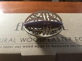 Flourish Natural Wood Easter Egg Ornaments, 1 Dozen image 4