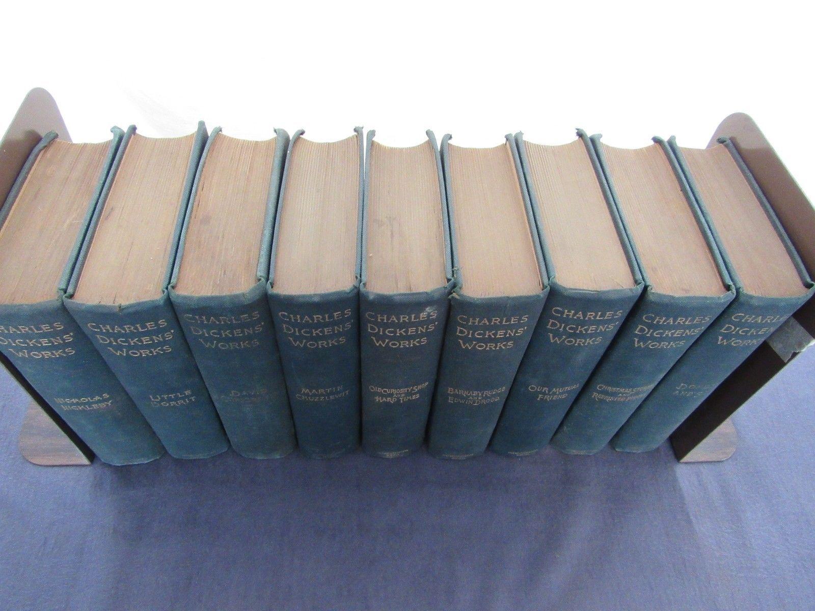 Charles Dickens Works International Book Co. Lot of 9 Books
