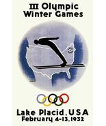 III Olympic Winter Games - Lake Placid, USA - 1932 - Advertising Poster - $9.99+