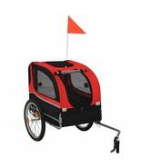 vidaXL Dog Bike Trailer Pet Carrier Wagon Pushchair Bicycle Ride Quick R... - $95.99
