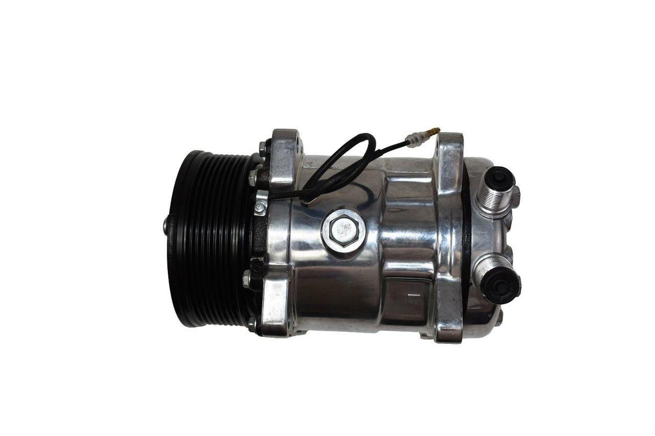A-Team Performance Sanden Style Compressor SD-508 New W/7 Groove Serpentine  Belt