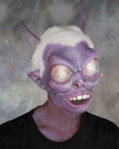 Alien Mask Antennae Lens Eyes Purple Scary Ugly Creepy Halloween Costume... - $91.46 CAD