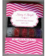 1 Merry & Bright Glitter finger nail polish gift set - $12.00