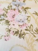 Vintage Steven's Floral PILLOWCASE KING SIZE pink periwinkle cotton/poly - $8.99