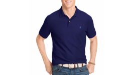 IZOD Advantage Polo Shirt Classic STRETCH Athletic WICKING QUICK DRY PEA... - $19.95