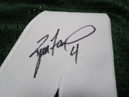 BRETT FAVRE / HALL OF FAME / AUTOGRAPHED GREEN BAY PACKERS THROWBACK JERSEY COA image 4