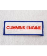 "Cummins Engine Sew on Embroidered Patch Red Blue White 1.5"" x 4"" New  - $6.93"