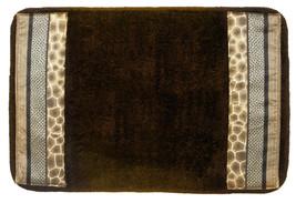 Popular Bath Safari Stripes Bath Collection - 21 x 32 Banded Bathroom Rug - $26.99