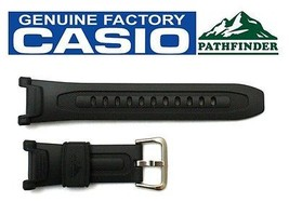 CASIO Pathfinder PAG-240-8 18mm Original Charcoal Rubber Watch BAND - $47.65