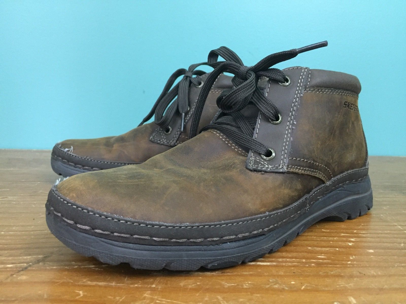 3445e4c43d Skechers USA Men's Selected Renton Chukka Boots - Size 8 - Brown Leather,  ...
