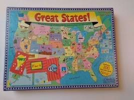 Great States! Board Game 2-6 Payers Ages 6 & Up Excellent Cond.! - $29.24