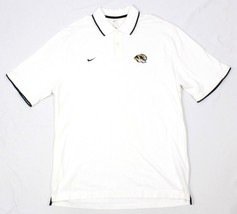 Nike Mizzou Polo Herren Elfenbein Hemd Universität von Missouri Tiger Monogramm - $21.10
