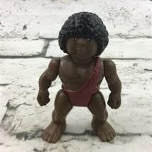Vintage 1987 Playskool Definitely Dinosaurs Caveman Figure African American Afro - $11.88