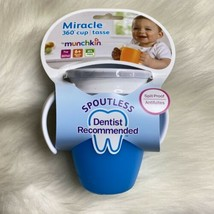 Munchkin Miracle 360 degrees spoutless no spill stopper lid 7 oz blue cup  - $7.49