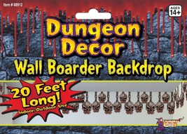 Skull Border Dungeon Decoration , Halloween Party Prop/Room Decoration - $6.26