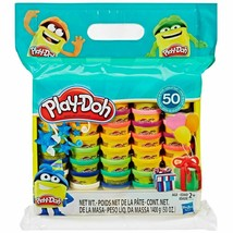 Hasbro Play-Doh Modeling Compound 50-Pack Different Colors Non-Toxic Ass... - $25.73