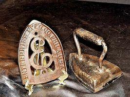 Antique 6 Sad Iron with Trivet AB 565-M image 5