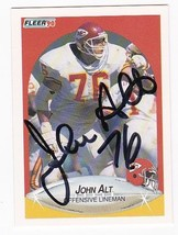 John Alt Autographed Card 1990 Fleer Kansas City Chiefs - $4.98