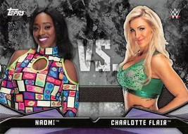 2017 TOPPS WWE Women's Diva Black Rivalries #RV-14 Naomi Charlotte Flair #23/50 - $7.08