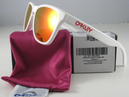 Oakley Frogskins Édition Limitée Poli Blanc avec / Rubis Iridium 24-307 - $195.75
