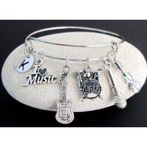 Muscian Gift Music Bangle,Music Bracelet,Musician bangle,Guitar Bracelet - $18.00