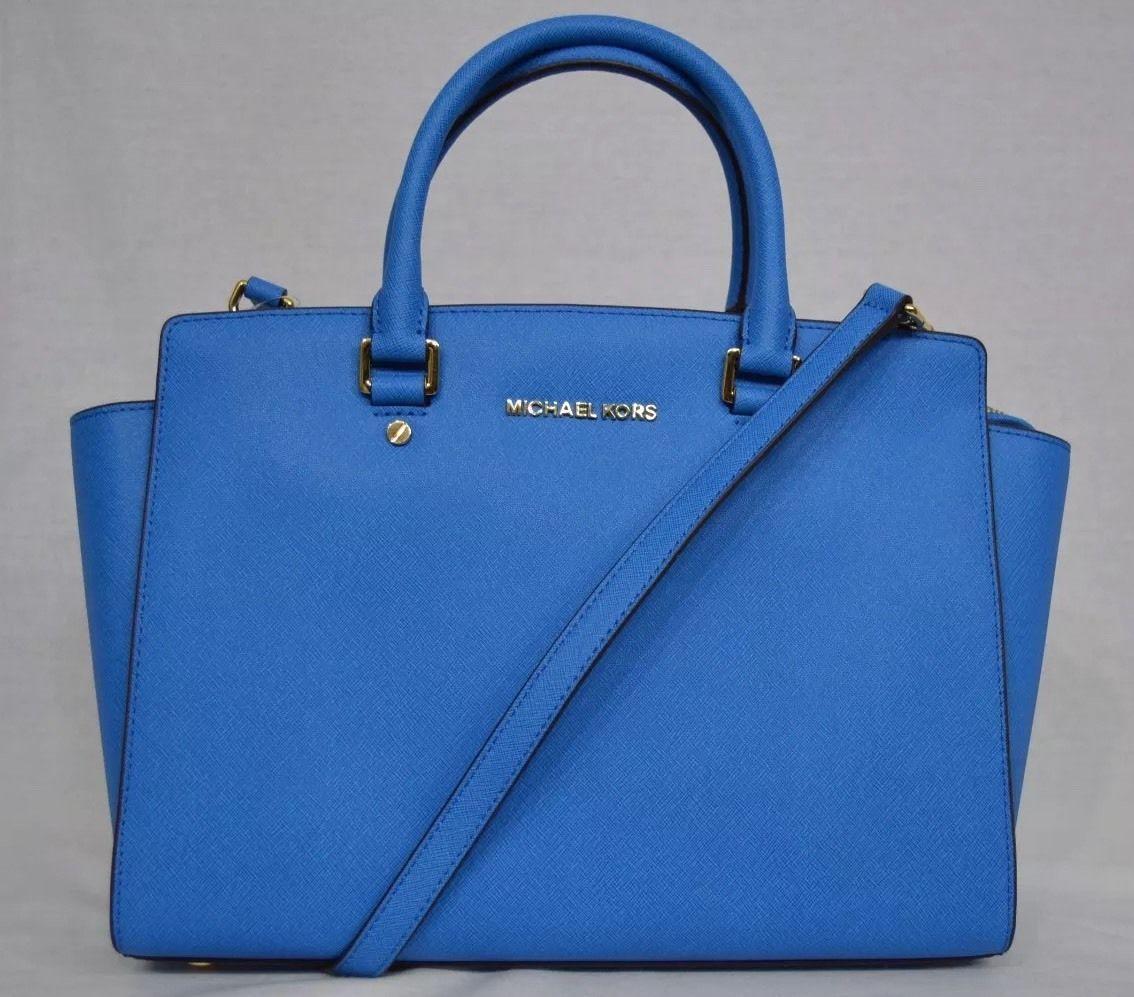 c1298d90aa9e S l1600. S l1600. NWT MICHAEL Michael Kors Large EW Selma Satchel Saffiano  Leather - Heritage Blue · NWT MICHAEL Michael ...