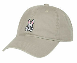 Psycho Bunny Men's Cotton Embroidered Strapback Sports Baseball Cap Hat image 12