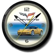 Corvette Yellow Neon Clock Hand Made In The USA... - $348.99
