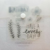 Close To My Heart My Acrylix B1462 Lovely Birthday Occasions Premium Stamps - $8.10