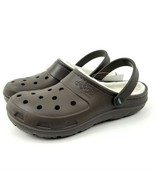 Crocs Jibbitz Presley Lined Roomy Brown Men 10 Women 12 Insulated NEW - $29.61