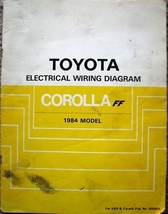 1984 TOYOTA Corolla FF Electrical Wiring Diagram Manual Booklet - $9.89