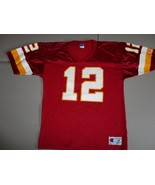 Red Vintage Champion Washington Redskins #12 Gus Frerotte Screen Jersey ... - $32.56
