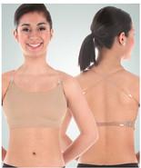 Body Wrappers 275 Women's Size Small Nude Halter Top Bra w/ Clear Adj. S... - $14.84