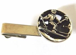 Vintage Skier Tie Bar Clip Clasp Men's Retro Skiing Tie Suit Accessories... - $18.58