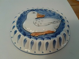 Vintage Decorative Ceramic White Duck Jello Mold Kitchen Wall Hanging Ho... - $8.60