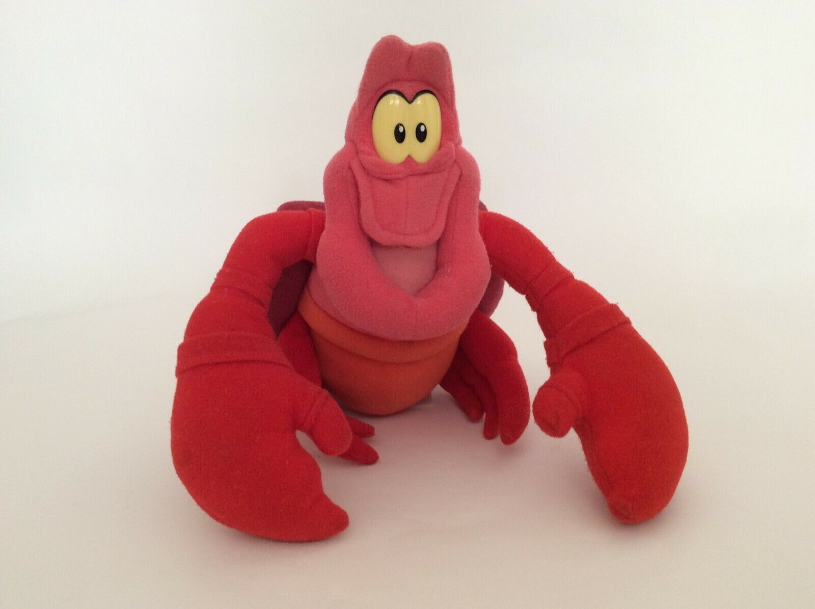 "DISNEY The Little Mermaid red SEBASTIAN THE CRAB 9"" vintage Arcotoys plush"