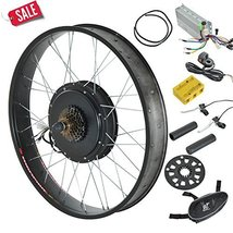 "Electric Bicycles Conversion Kit E Bike Hub Motor Front Wheel 26"" 1000W ... - $360.95"