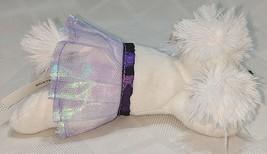 GANZ H12403  White Ballerina Poodle Purple Tutu 7 inch Ages 3 Plus image 2