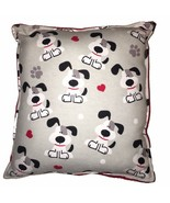 Dogs Pillow Handmade In USA Puppy with Bone Pillow Cute Snoopy Type Pupp... - $9.99